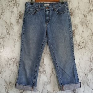 Levi's 505 Raw Hem High Rise Crop Jeans 10 2J71